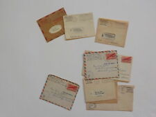 4 WWII Letters Navy Ship U.S.S. Cushing Shrewsbury Massachusetts V-Mails WW2