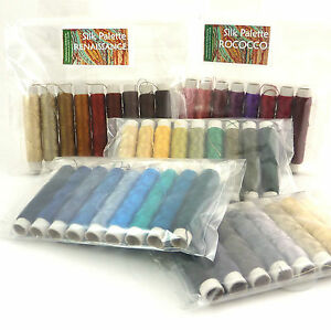 Pure Real Silk Embroidery Thread, Weaving Hand Machine Sewing 9 x 50m Spools