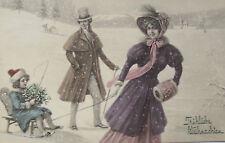 """""""Weihnachten, Männer, Frauen, Schlitten""""1909, V.K. Vienne Nr.5030 ♥ (20847)"""