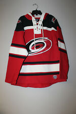 New NHL Carolina Hurricanes old time jersey style midweight cotton hoodie men XL