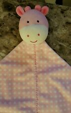 Child Of Mine Carters Pink Giraffe Security Blanket Rattle White Polka Dot Lovey