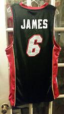 LeBron James Miami Heat adidas SEWN Jersey #6 Adult L 44 Cleveland Cavaliers