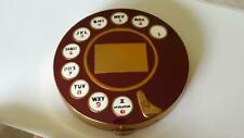 Vtg 1950's Dark Red Rotary Telephone Compact Inspired by Salvador Dali