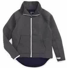 NWT ZELLA Girl Gray Medium Charchoal Heather Raglan Sleeve Zip Up Jacket Size M