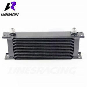 Aluminum 15 Row AN10 Engine Transmission Oil Cooler Kit Black Fits Acura