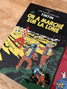 3 x Adventures Of TinTin Lacquered Wall Art Hanging - on Wooden Plaque
