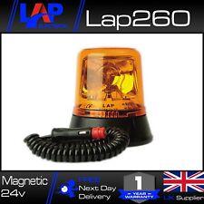 Magnetic Beacon Flashing Amber Rotating Recovery Hazard UK 24v LAP260