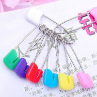 5pieces Color assorted plastic head honeycomb fabric safety pins for baby