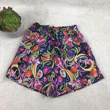 Vintage Asics Wonens Hoard Shorts Sz Xs/S Fruit Floral Colorful