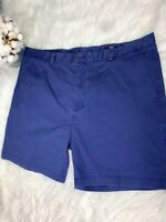 Men's Navy Blue Chino Flat Front Vineyard Vines Shorts Size 40