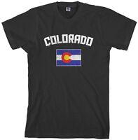 Threadrock Men's Colorado Coloradan Flag T-shirt state denver