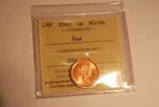 Canada Cent ICCS MS66 RED 2003 Old Effigy