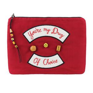Venessa Arizaga 'You're my Drug of Choice' Zipped Pouch Clutch