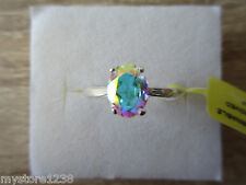 Mercury Mystic Topaz Ring Sterling Silver Size 7, 8 Option