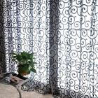 Floral Scarf Sheer Voile Door Window Curtain Drape Panel Tulle Valances Divider#