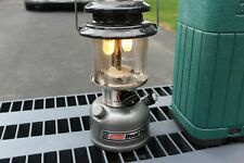 Vintage Coleman 285 Dual Fuel Double Mantle Lantern & Plastic Case 04/92 Tested