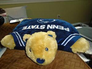 "Penn State Nittany Lions Pillow Pets 16"" Plush Cushion 20"" Snowman Hoodie Cap NR"