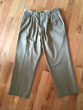 Dockers 40695 Relaxed Fit D4 Brushed Cotton True Chino Khaki Pleated Pants 34x29