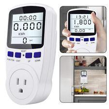 Lcd Power Saving Energy Monitor Watt Amp Volt Meter Electricity Analyzer Socket