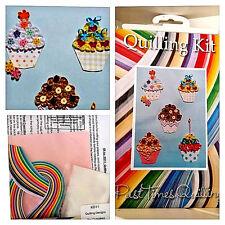 """Kit completo de papel Quilling + tarjeta """"Muffin Diseño"""" diversión para todas las edades KD11"""