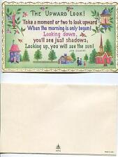 VINTAGE CHURCH VILLAGE CANDLE HOUSE CANDLE FAUX PRINT 1 CORN COB CAT KITTEN CARD