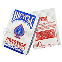 2 Decks x Bicycle PRESTIGE playing cards 100% Plastic Standard index Poker Magic