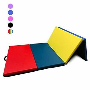 "GreenLife® 4' x 8' x 2"" Folding Gymnastics Mat with Carrying Handles"