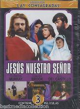 3 EN 1* Jesus Nuestro Senor DVD Jesus EL Nino Dios, Jesus Maria y Jose BRAND NEW