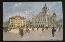 Switzerland BERN Parlamentsplatz artist Stein early PPC