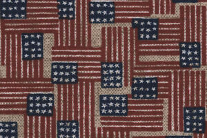 Longaberger 79 - 04 Small Fruit Basket Old Glory Flag Patriotic Fabric Liner NIP