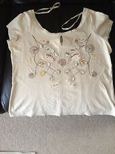 Ladies beaded t shirt by George size 14