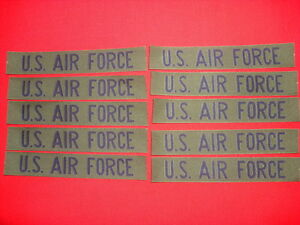 10 US AIR FORCE Pocket Tapes - Unissued, Unused New Old Stock