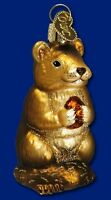 CHIPMUNK OLD WORLD CHRISTMAS GLASS FOREST ANIMAL WILDLIFE ORNAMENT NWT 12145