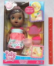 Baby Alive Teacup Surprise Doll Tea Party AA African American Drinks Wets NEW