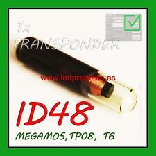 1x ID48 TRANSPONDER KEY MEGAMOS TP08 T6 VIRGIN CHIP FIAT ALFA ROMEO LANCIA IVECO