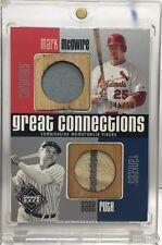 Babe Ruth / Mark McGwire 2002 UD Diamond Collection GU Bat Pinstripe Jersey /50