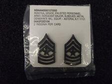 (A29-037) US Rangabzeichen Metall Sergeant Major in OVP Schwarz