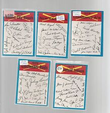 1973 OPC BASEBALL UNMARKED TEAM CHECKLISTS 6 EXCLNT- NEAR MINT