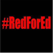 Red For Ed Hashtag Vinyl Decal Sticker Window Support Awareness