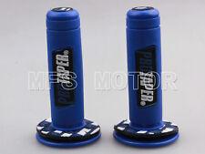 """Universal 7/8"""" ATV Dirt Hand Grips Handle Bar Grip Pit Dirt Bike All Blue HOT"""