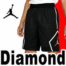 MEN'S AIR JORDAN JUMPMAN CLASSICS FLEECE BASKETBALL SHORTS HBR BLACK RED 2X 3XL