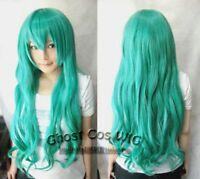 New Fashion Long miku Hatsune Green Cosplay Wig + free wigs cap