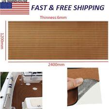 2400x1200x6mm EVA Brown Faux Teak Boat Flooring Faux Teak Decking Sheet Pad