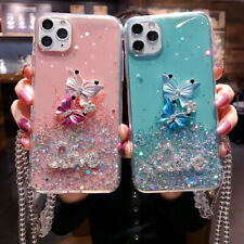 Glitter Butterfly Soft TPU Phone Case Cover For iPhone 11 Max 6s Huawei Mate 20