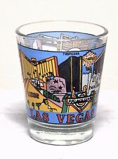 Las Vegas Nevada With Many Different Scenes & Attractions Shot Glass