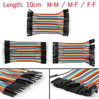 10 x 40Pièce Jump Wire Jumper Câbles 10cm M-M/M-F/F-F 1P-1P Pour  AF