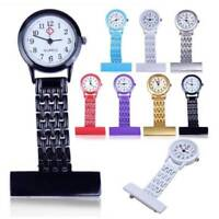 Nurse Watch Brooch Tunic Fob Quartz Watches Stainless Steel Pocket Pendant