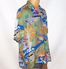 Vintage Diamond Head Sportswear Woody Surf Wagons Woodie Aloha Hawaiian Shirt L