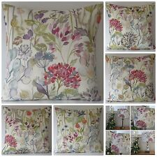 "VOYAGE HEDGEROW CREAM  CUSHION COVER 16 X 16"" HANDMADE"