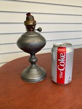 Antique Pewter Whale Oil Lamp Made In Italy Fantastic Find! See Photos!